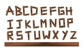 Wood letters — Stock Vector