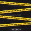 Yellow lines — Stockvector #9068438