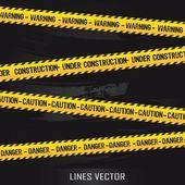 Gele lijnen — Stockvector