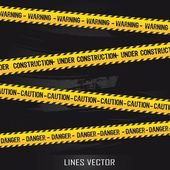 žluté čáry — Stock vektor
