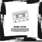 Grunge 卡带 — 图库矢量图片