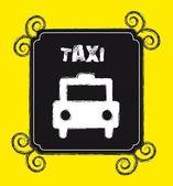 Grunge taxi — Stock Vector