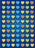 Hearts vector — Stockvector
