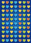 Vector de corazones — Vector de stock