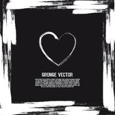 Heart grunge — Stock Vector