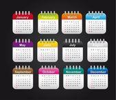 Months calendar — Stock Vector