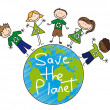 Save the planet — Vettoriali Stock