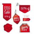 Big sale tags - Stock Vector