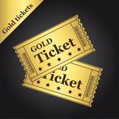 Gold tickets — Stock Vector