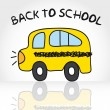 back to school&quot — Stock Vector