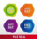 Wax seal — Stock Vector