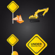 Road sign icons — Vector de stock
