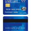 Blue credit cards — Stockvektor