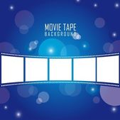 Movie tape — Stock Vector