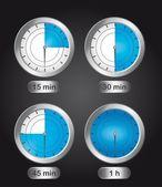časovač hodiny — Stock vektor