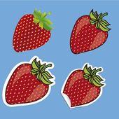 Strawberries set — Stock Vector