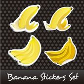 Banana stickers — Stock Vector