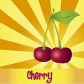 3D Cherries — Stock Vector