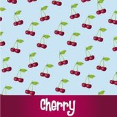 Cherry pattern — Stock Vector