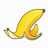 Banana peel — Stock Vector