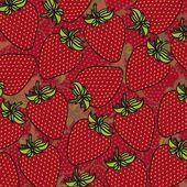 Cartoon strawberries grouped — Stock Vector