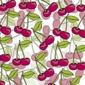 Cartoon cherries grouped — Stock Vector