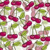 Cartoon cherries grouped — Stock Vector