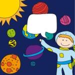 Child astronaut — Stock Vector #9736113