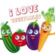 Постер, плакат: Vegetables cartoons