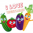 Stock Vector: Vegetables cartoons