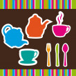 Cute crockery — Stock Vector