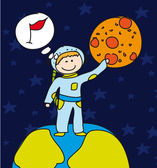 Boy astronaut — Stock Vector
