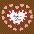 Mother's day heart — Stock Vector