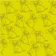 Royalty-Free Stock Vector Image: Pattern of dog silhouettes