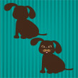 Dog silhouettes - Stockvektor