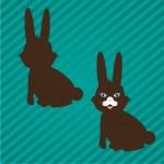 Bunny silhouettes — Stock Vector