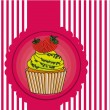 Cupcake label — Stock Vector