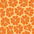 Background of orange slices — Stock Vector