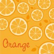Pattern of silhouettes of oranges — Stock vektor