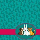 Domestic pets label — Stock Vector