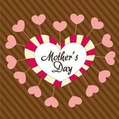 Mother's day heart — Vetorial Stock