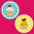 Two labels cupcakes — Stock Vector
