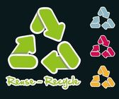 Recycling icons set — Stock Vector