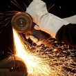 Stock Photo: Metal Grinding Sparks