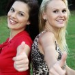 Gorgeous Women Showing Thumbs Up — Stock Photo