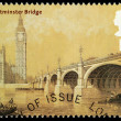 Bridges of London Postage Stamp - Stok fotoraf