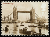 London Tower Bridge Postage Stamp — Stock Photo