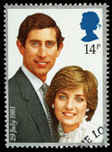 Prince Charles and Lady Diana Postage Stamp — Stock Photo
