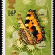 Butterfly Postage Stamp — Stock Photo