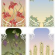 Background frames in art Nouveau style — Stock Vector
